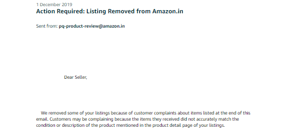 Reactivation Of Amazon Blocked-Inactive Listing